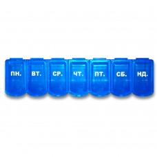 Органайзер для таблеток пластиковый линейка 7 дней PT 6028