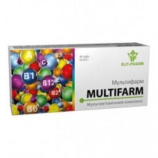 Мультифарм табл.№40 Мультивитаминный комплекс